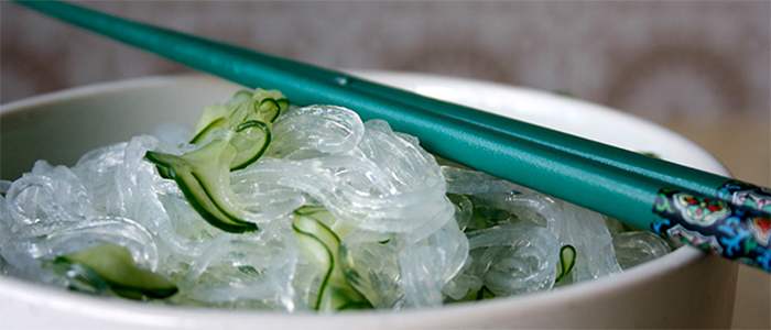 Salada de harussame com pepino