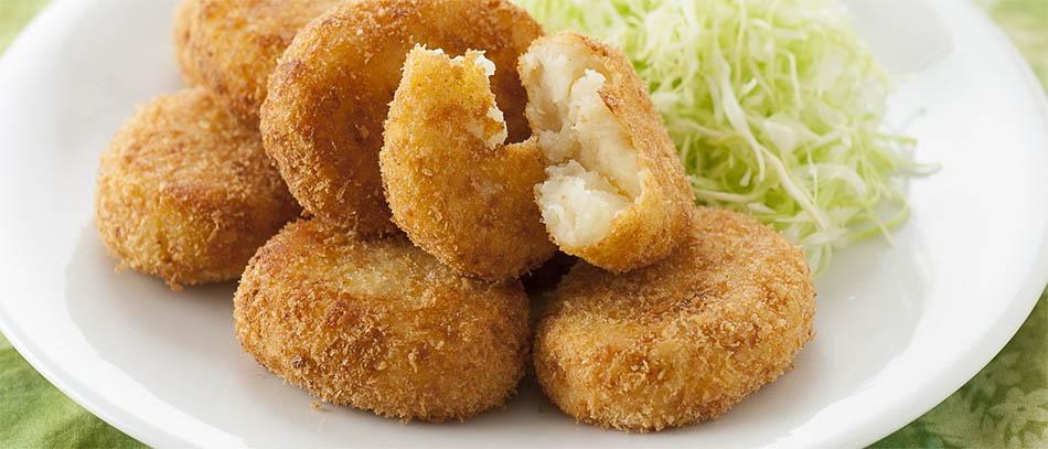 Receita korokke (croquetes de batata ao estilo japonês)
