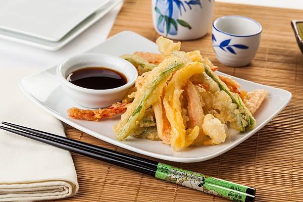 Receita deliciosa de tempura vegano